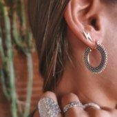 SUREM🌵Aros de plata oxidada con estilo étnico 🌵  www.bylula.es #etnic #oxidisedjewellery #silver #hoops #new #waitingforsummer #lula_bylula