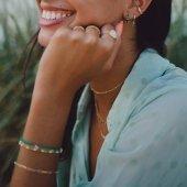 Green💚 Eira - Paola & Lacio  www.bylula.es  #green #esmeralda #gold #new #littlethings #smile #lula_bylula